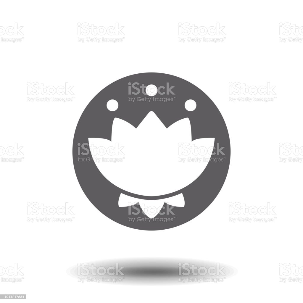 Lotus Flower Flat Icon In White Background Stock Vector Art More