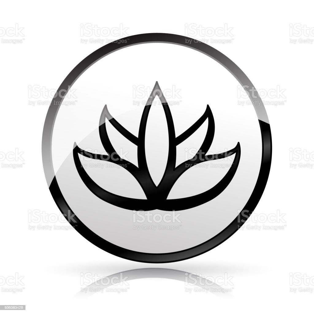 Lotus flower icon on white background stock vector art more images lotus flower icon on white background royalty free lotus flower icon on white background stock izmirmasajfo