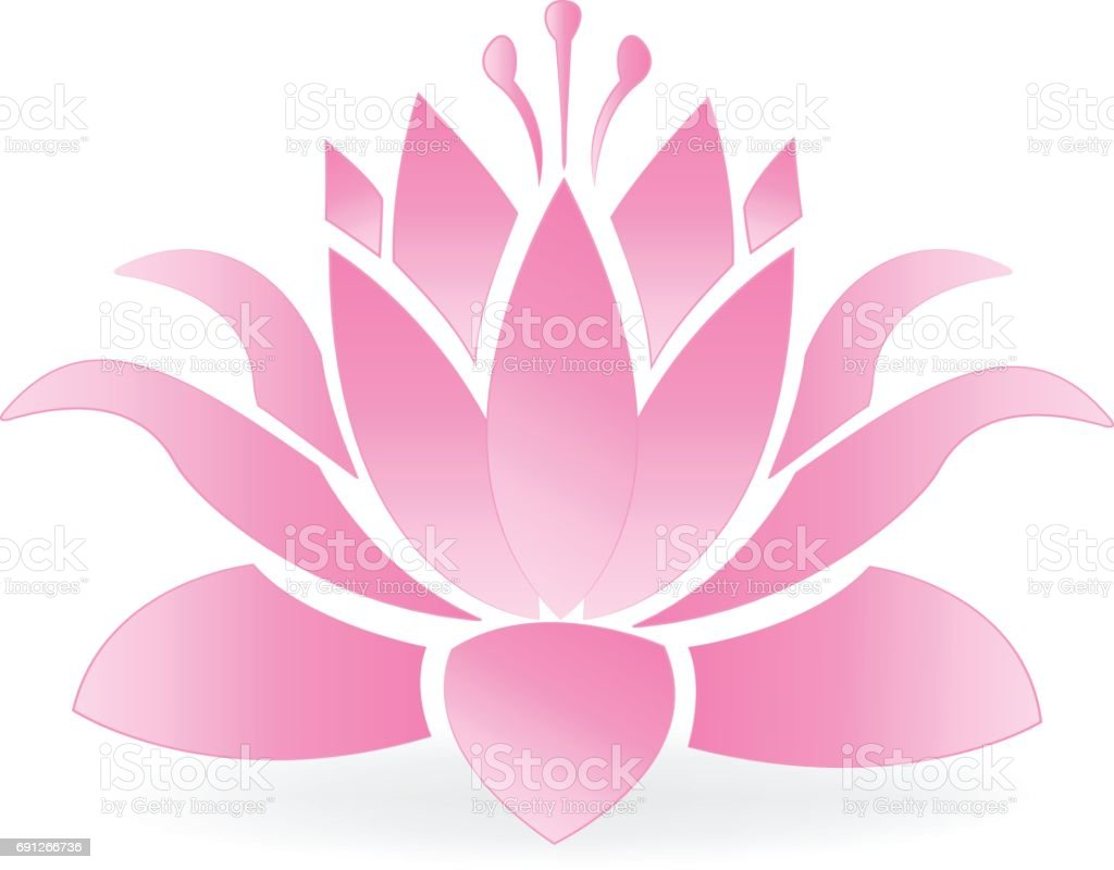 Lotus Flower Icon Vector Design Stock Vector Art More Images Of