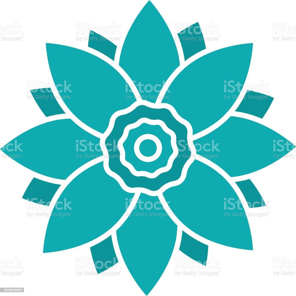 Lotus Flower Icon Stock Vector Art More Images Of Blossom