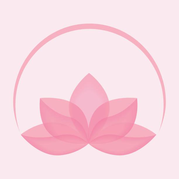 Lotus flower icon vector Lotus flower icon vector. Beauty logo concept. Yoga symbol illustration. EPS10 with transparency. fragility stock illustrations