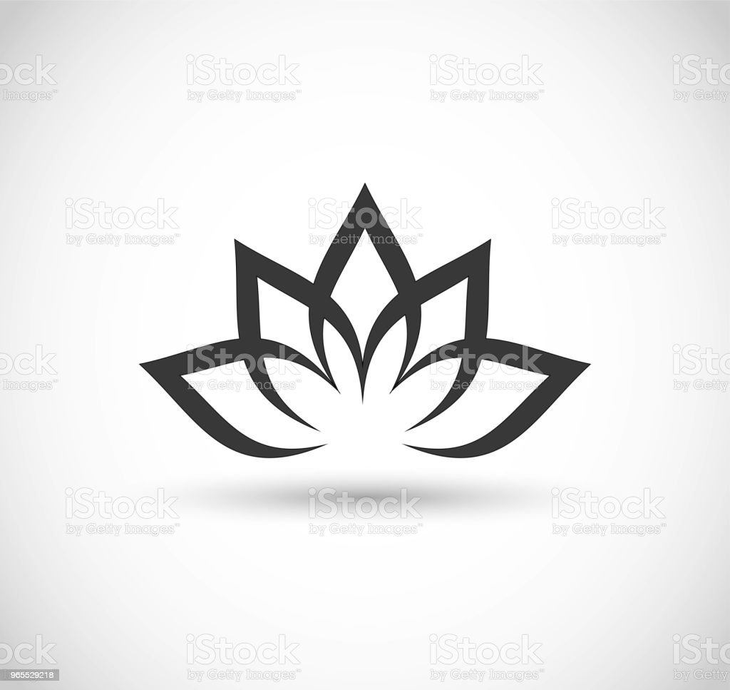 Lotus Flower Icon Vector Stock Vector Art More Images Of Abstract