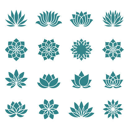 Lotus flower icons