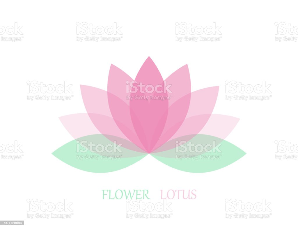 Lotus flower in flat style pink and green color vector icon eps 10 lotus flower in flat style pink and green color vector icon eps 10 izmirmasajfo
