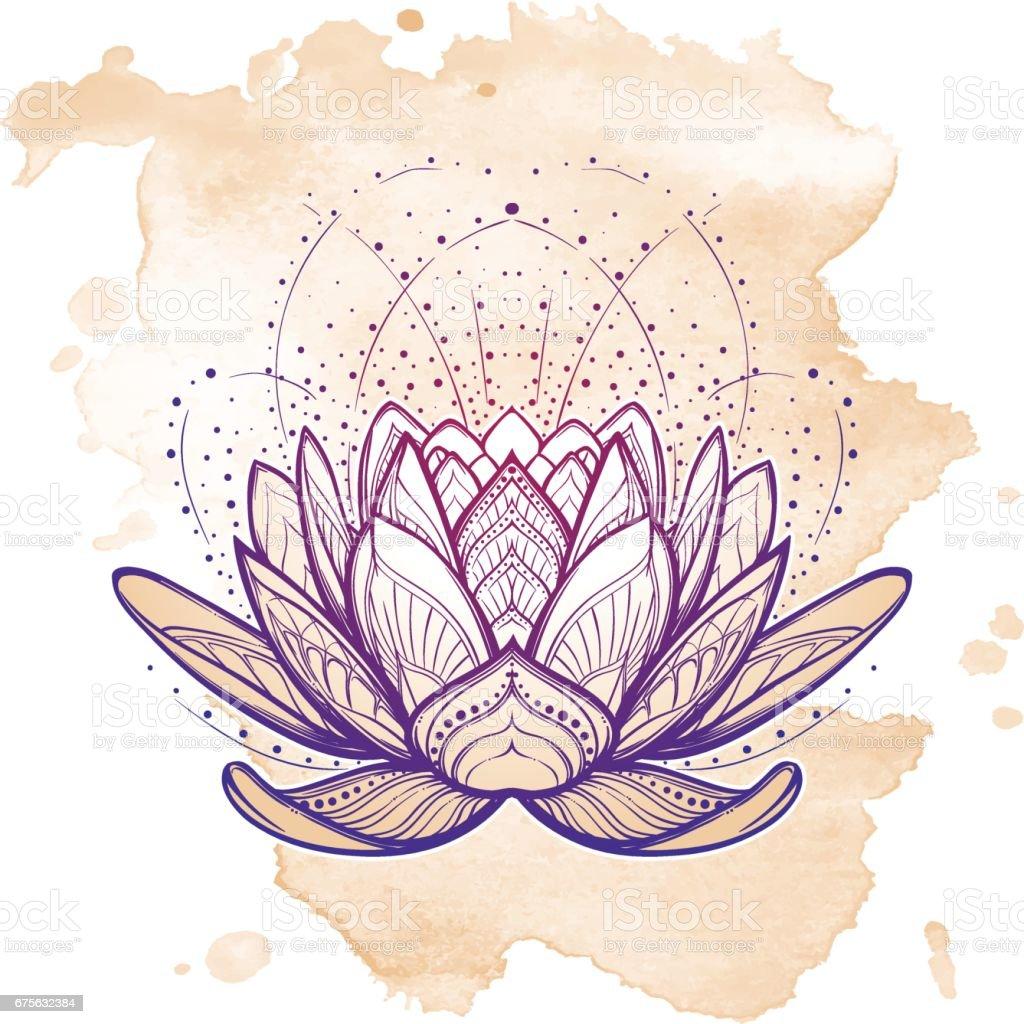 Lotus Flower Intricate Stylized