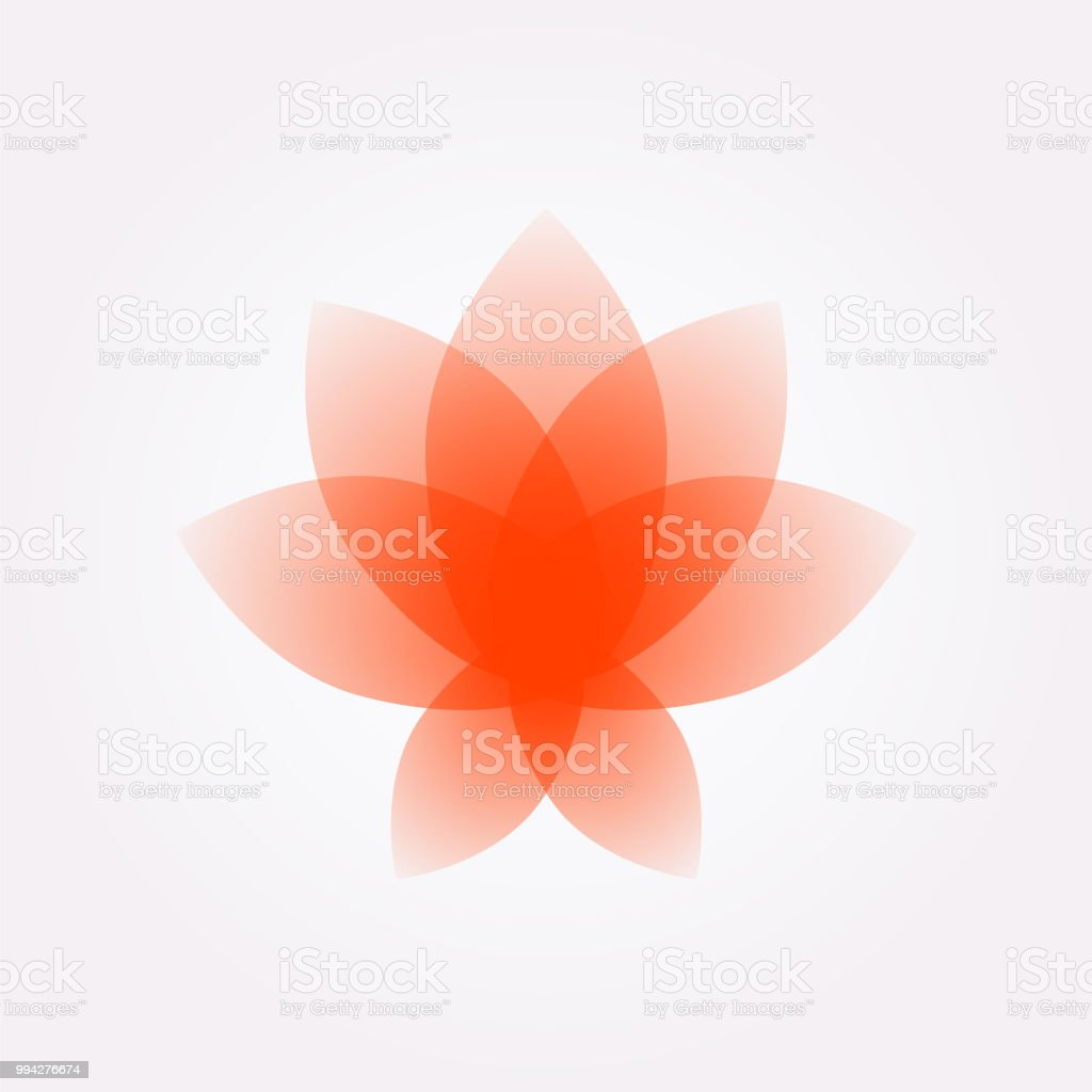 Lotus Flower Logo Sign Vector Flat Flower Icon Minimalistic Image On