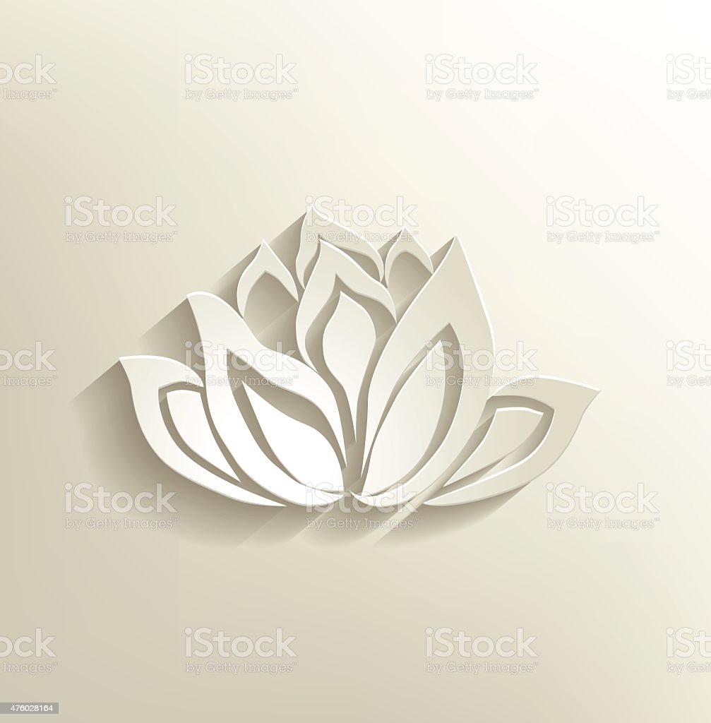 lotus flower logo vector art illustration
