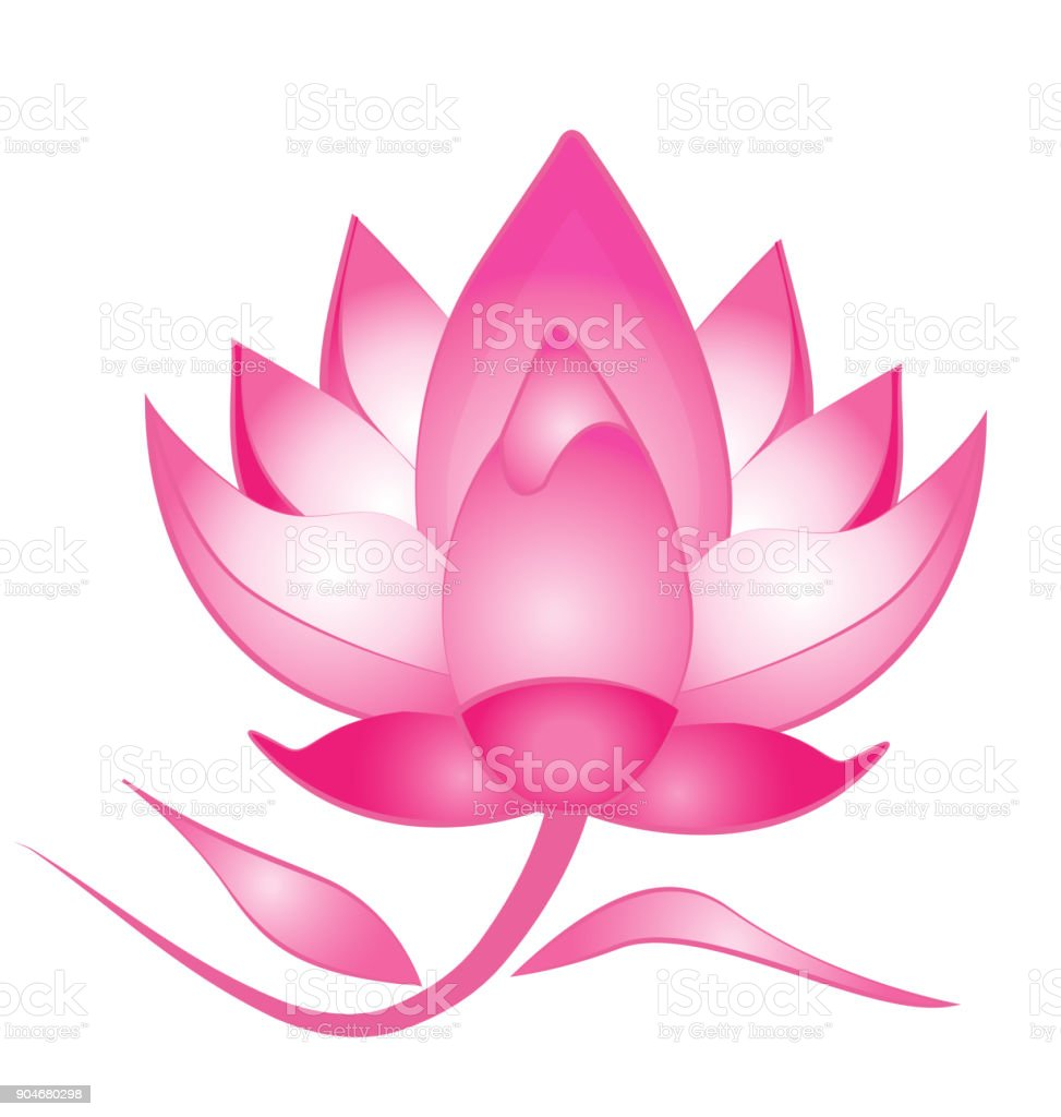 Lotus Flower Massage Symbol Stock Vector Art More Images Of