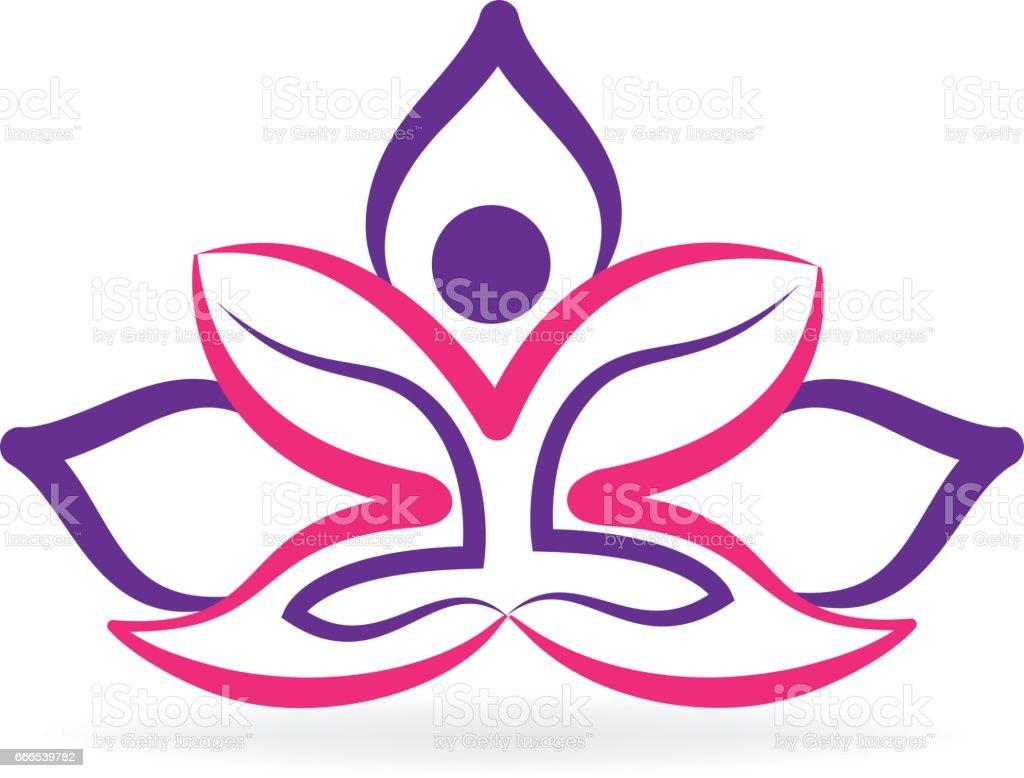 Lotus Flower Meditation Yoga Logo Stock Vector Art More Images Of