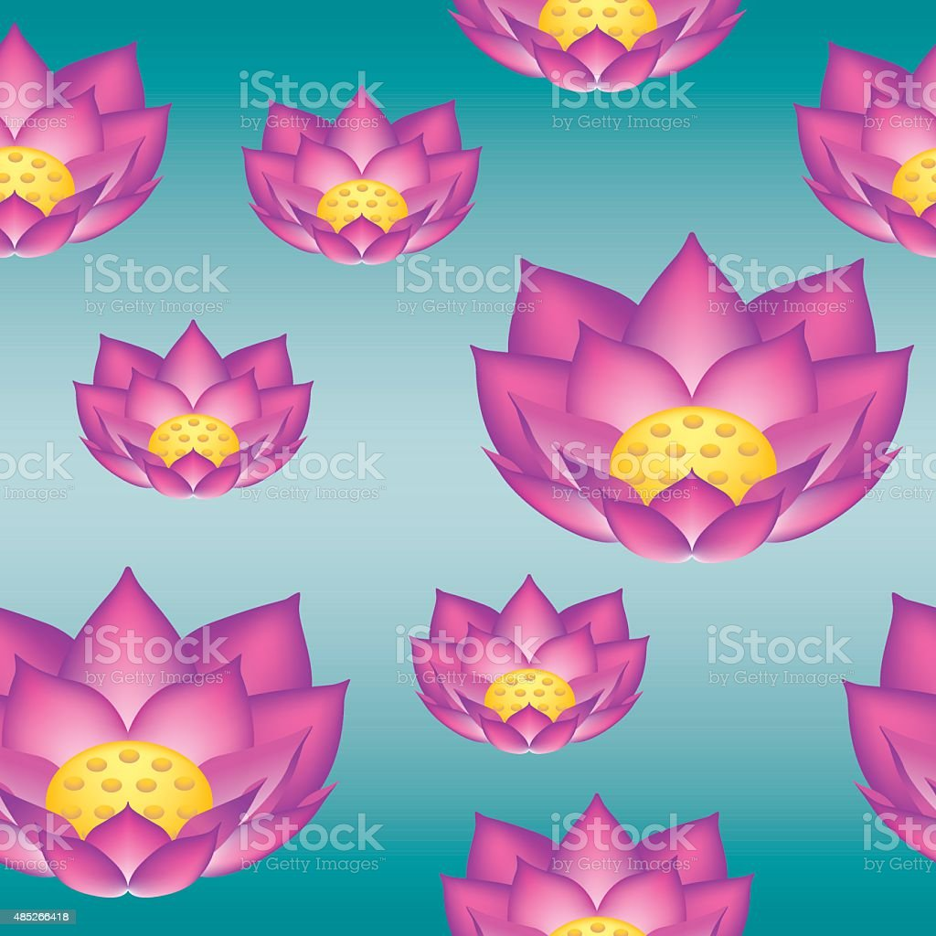 Lotus Flower Seamless Pattern Stock Vector Art More Images Of 2015