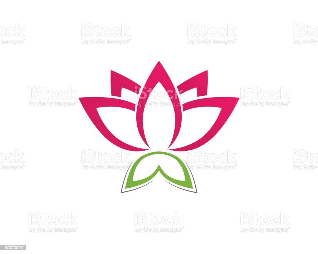 Ilustración de Muestra De Flor Loto Para Wellness Spa Y Yoga ... 8929336f88cb