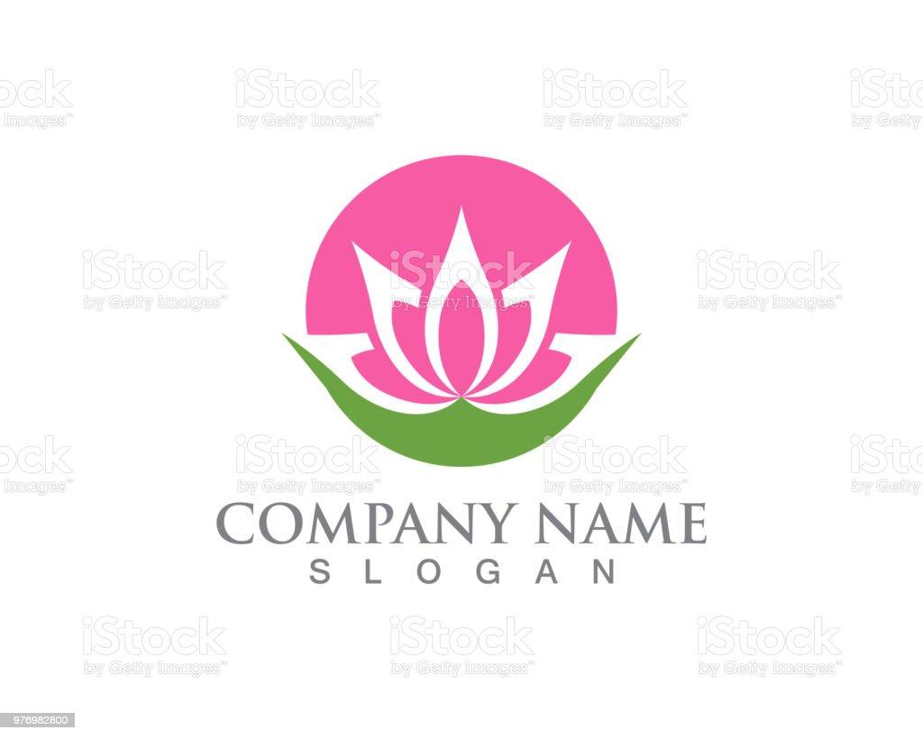 Lotus Flower Zeichen Für Wellness Und Yoga Vektorillustration Stock