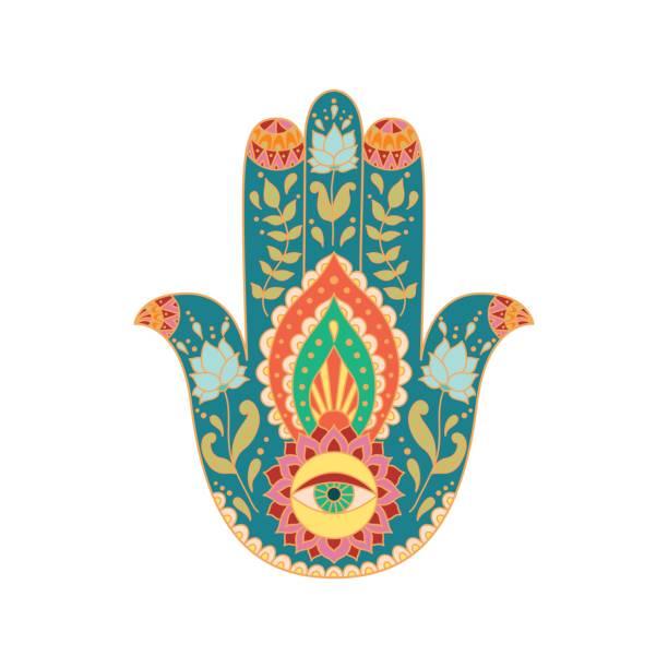 ロータスの花のシルエットとシンボル om。スイレン。 - アジアのタトゥー点のイラスト素材/クリップアート素材/マンガ素材/アイコン素材
