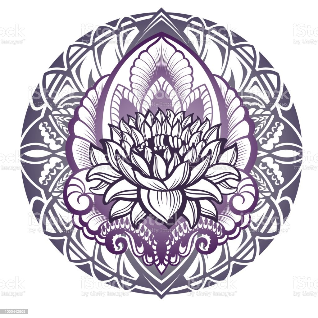 Lotus Flower Silhouette Stock Vector Art More Images Of Abstract