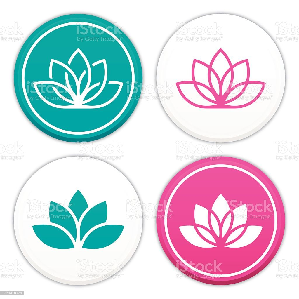 Lotus Flower Symbols vector art illustration