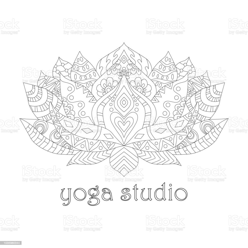 Lotus Flower Stock Vector Art More Images Of Abstract Istock
