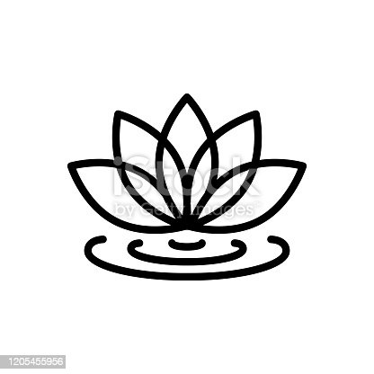 Icon for lotus flower, lotus, flower, spa, meditation, natural, floral, bloom, garden stuff, bouquet, petal, blossom