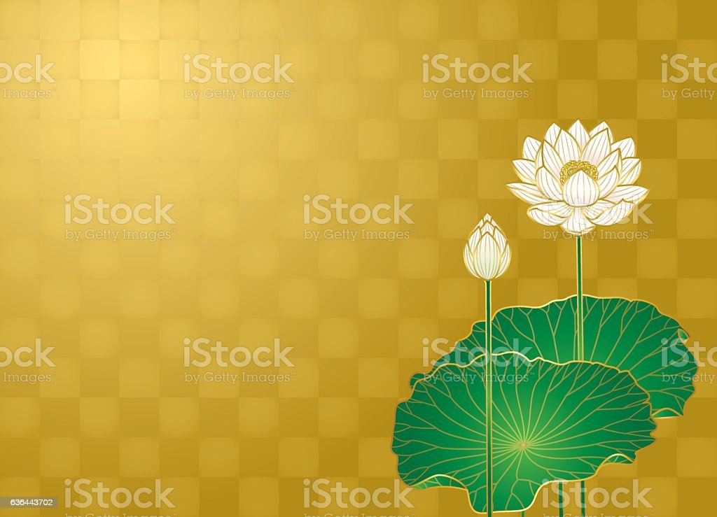 Lotus flower vector art illustration