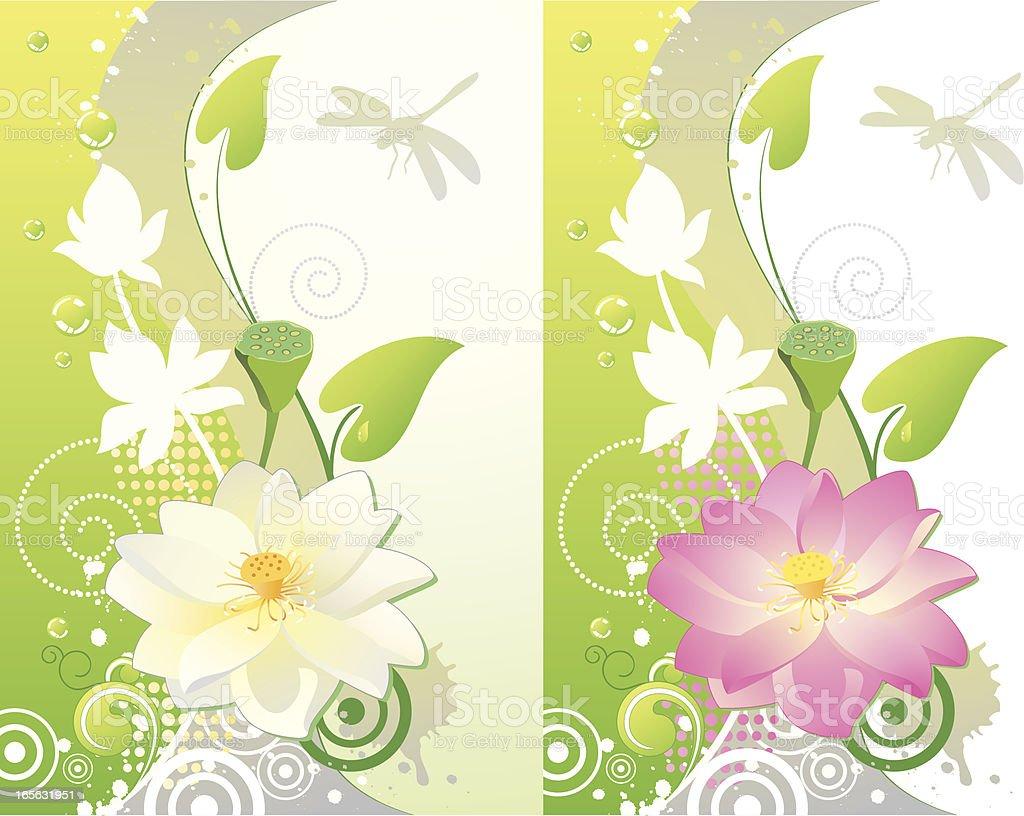 lotus flower vertical background stock vector art amp more