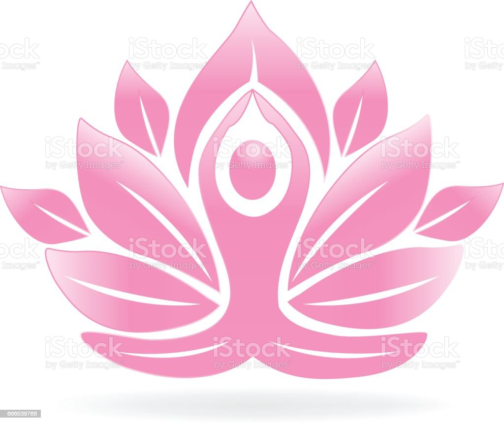 Lotus Flower Yoga Man Icon Stock Vector Art More Images Of Adult