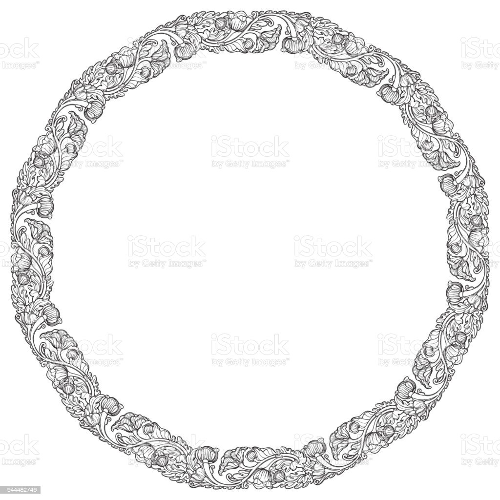 oval frame tattoo design. Lotus Flowers Arranged In Intricate Circular Frame. Popular Decorative  Motif South-Eastern Asia Oval Frame Tattoo Design