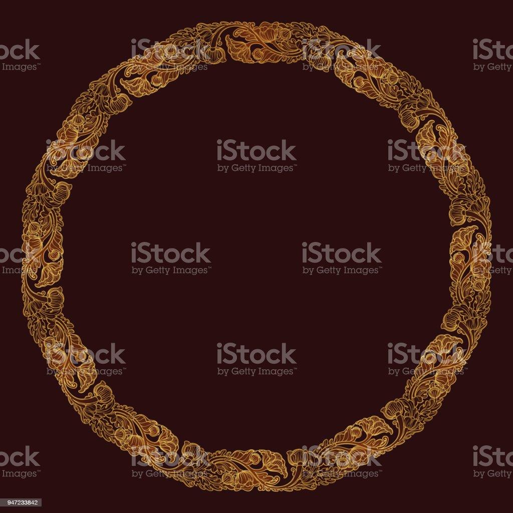 Lotusblumen In Komplexe Kreisförmige Rahmen Angeordnet Beliebtes ...