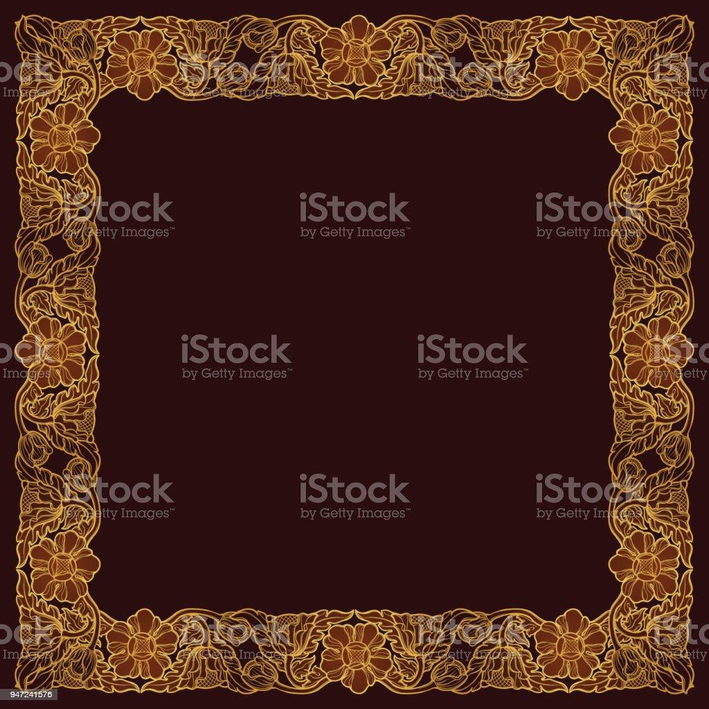 Lotusblumen In Komplizierten Quadratischen Rahmen Beliebtes ...