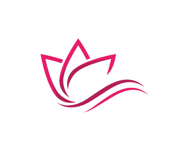 lotus flowers design - massage stock illustrations
