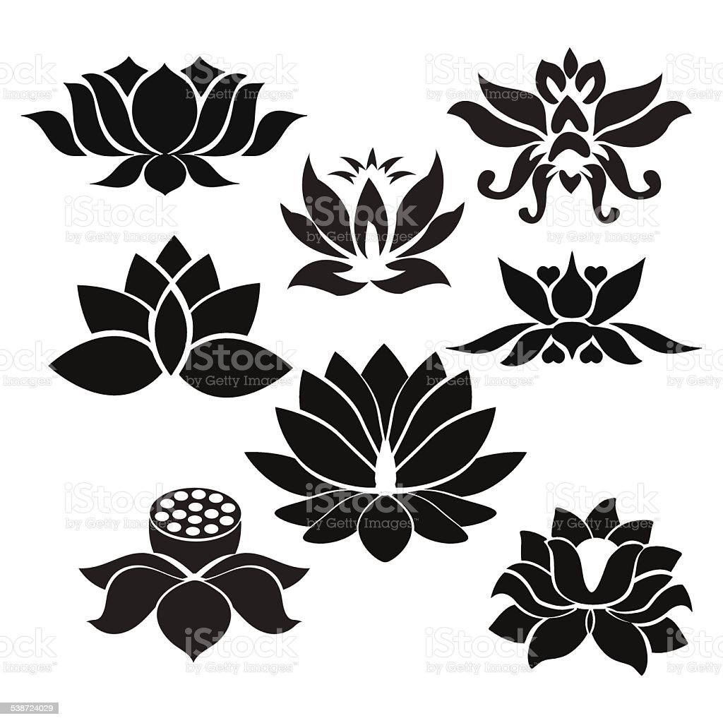 Lotus flowers tattoo illustration on white background stock vector lotus flowers tattoo illustration on white background royalty free lotus flowers tattoo illustration on izmirmasajfo