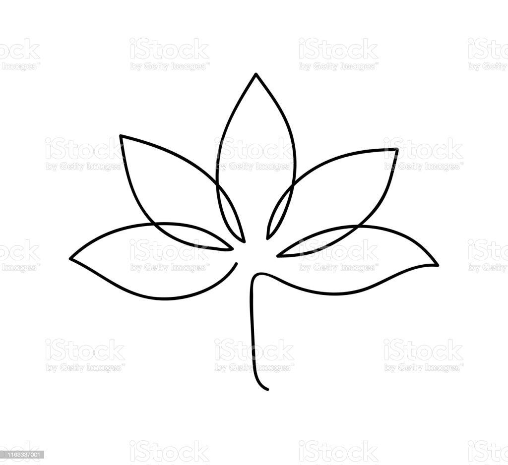 Lotus Icon Logo Outline Illustration Of Lotus Flower Black And