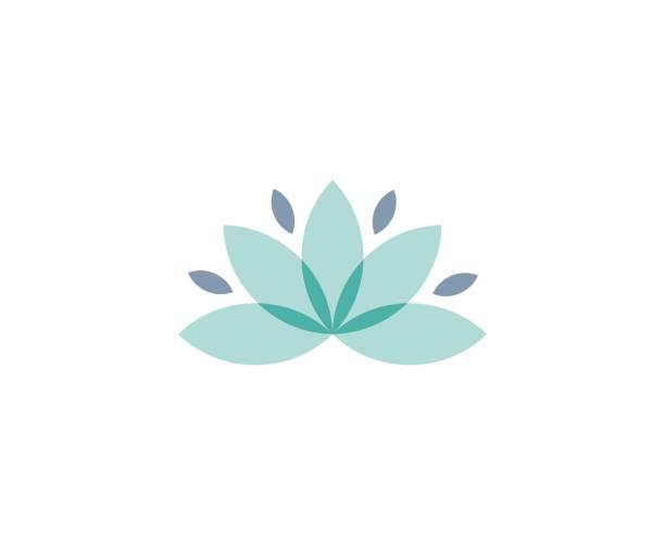 ilustrações, clipart, desenhos animados e ícones de ícone de lótus - lotus
