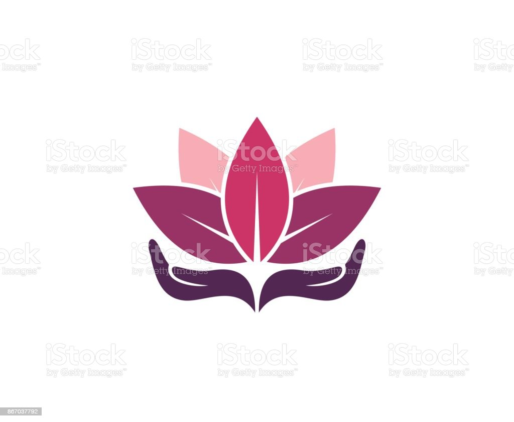 Lotus icon vector art illustration