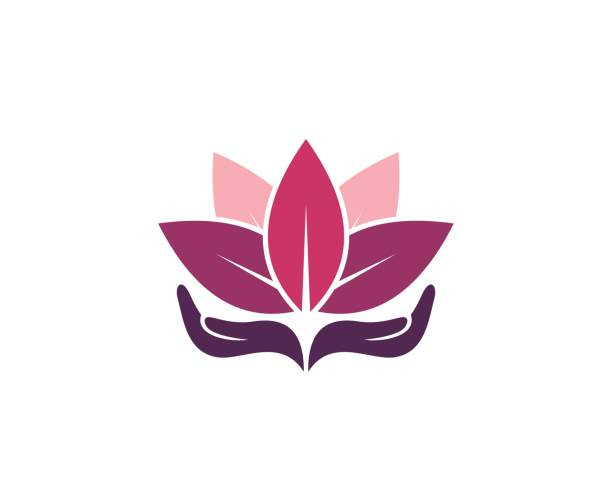 lotus-symbol - meditation icon stock-grafiken, -clipart, -cartoons und -symbole