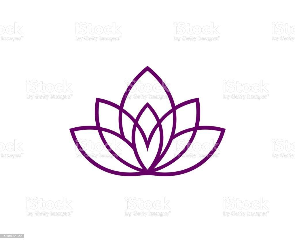 Lotus icon - ilustración de arte vectorial