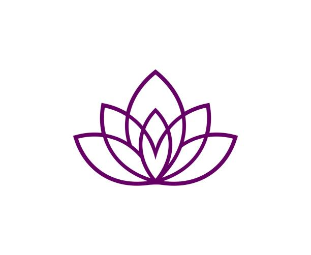 lotus icon - yoga stock illustrations, clip art, cartoons, & icons