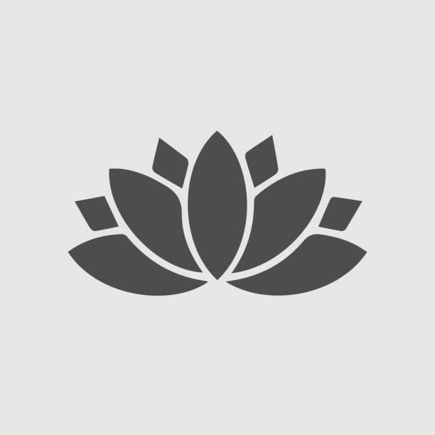 ilustrações, clipart, desenhos animados e ícones de ícone de lótus. símbolo de ioga. - lotus