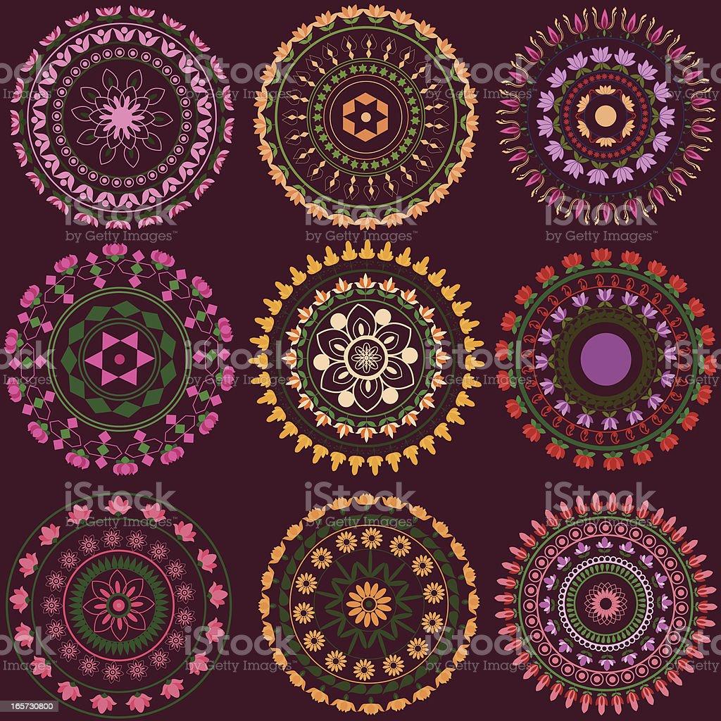 Lotus Mandala Design. royalty-free lotus mandala design stock vector art & more images of backgrounds