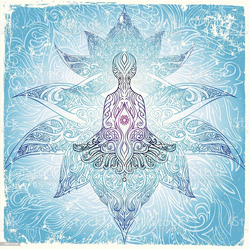 lotus meditation royalty-free stock vector art