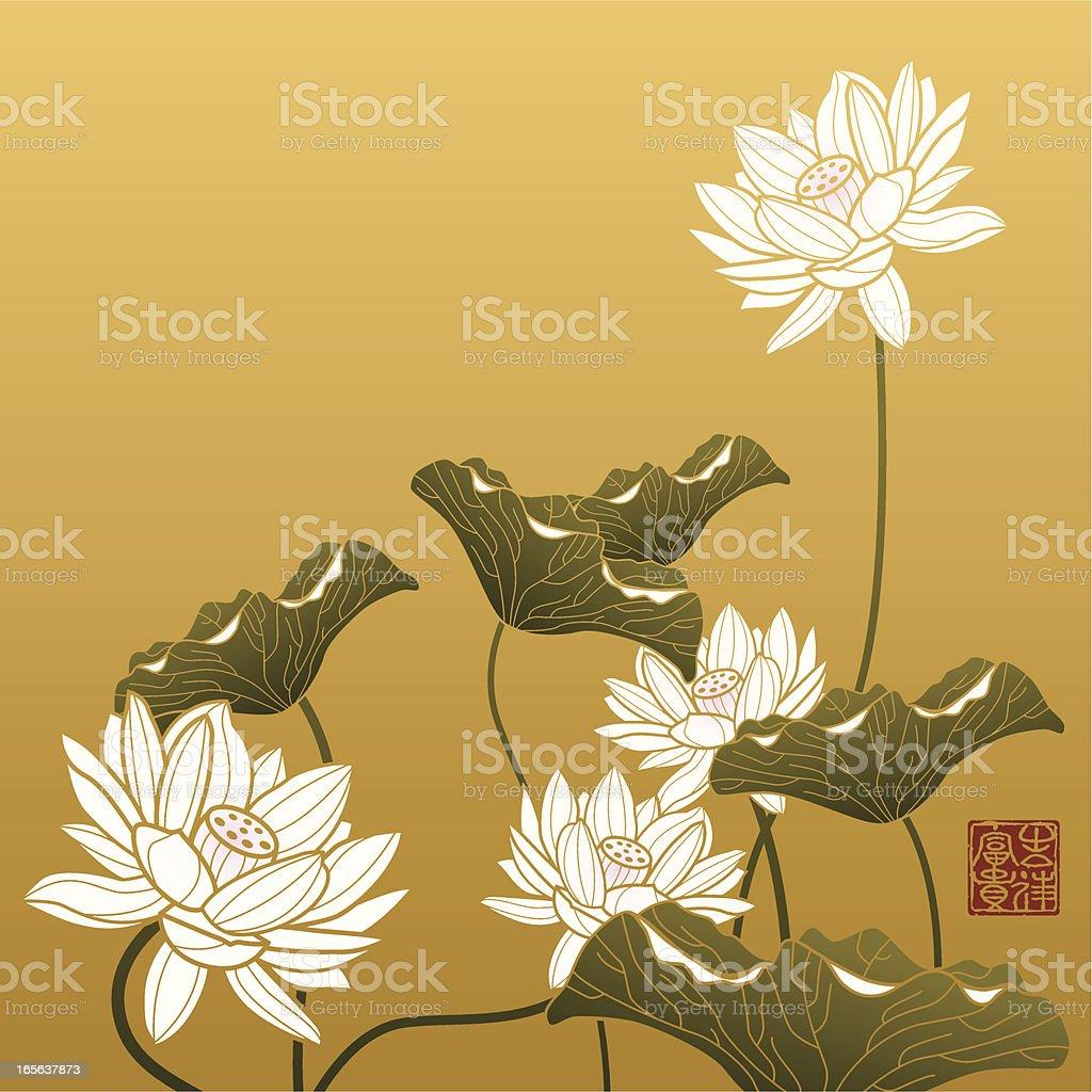 Lotus Painting vector art illustration