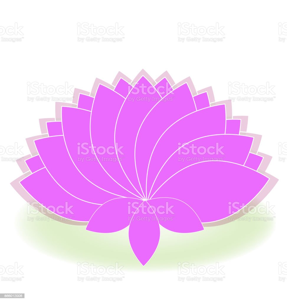 Lotus Pink Flower Massage Icon Stock Vector Art More Images Of