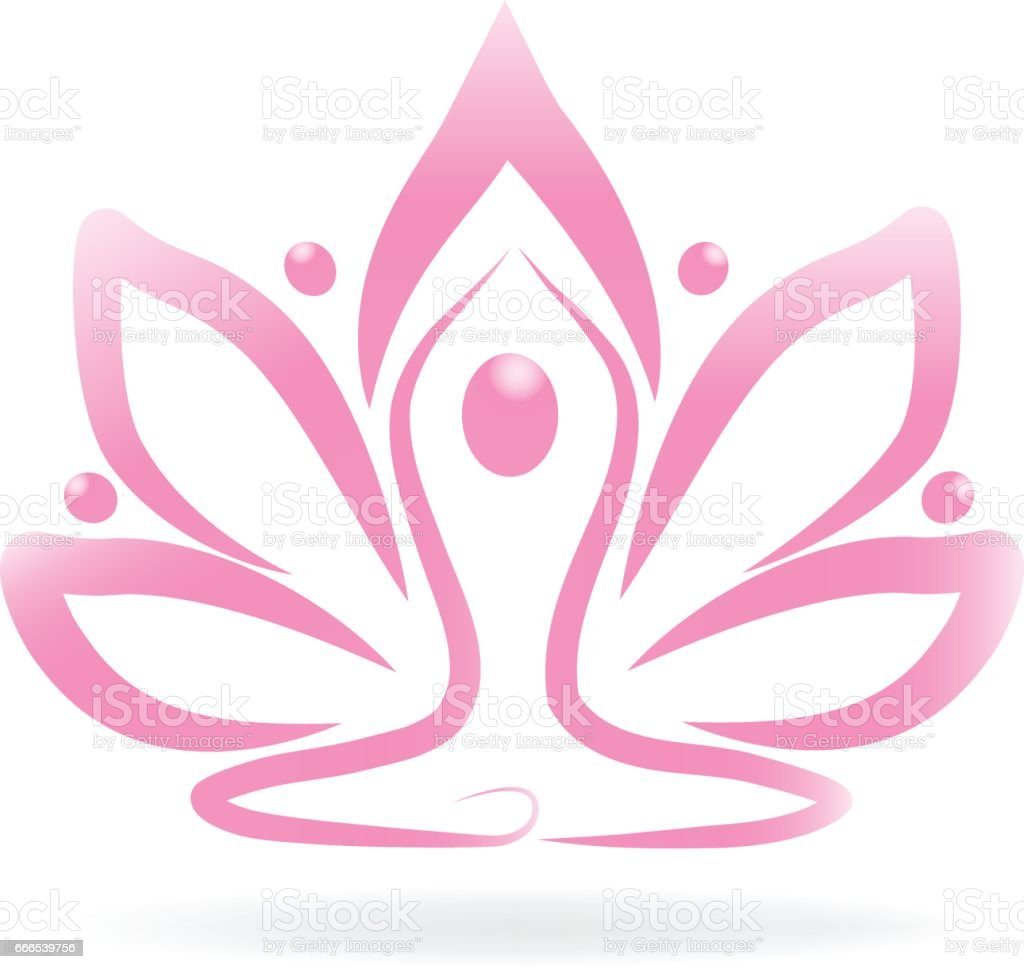 Logo de yoga Lotus rosa flor personas ilustración de logo de yoga lotus  rosa flor personas 94c862a76a0d