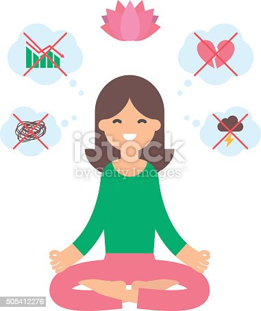 lotus pose of yoga meditation anti stress relaxation stock vector art more images of adult. Black Bedroom Furniture Sets. Home Design Ideas