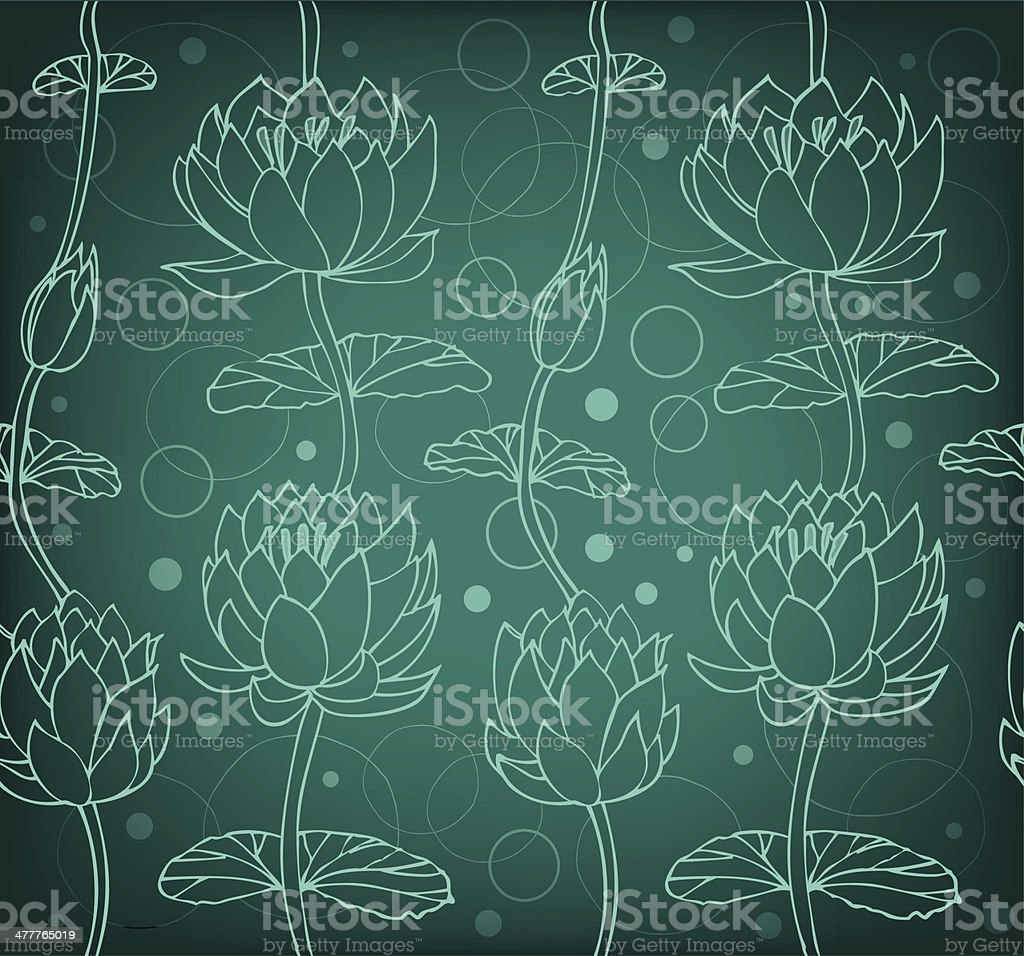 Lotus silhouette background. Dark floral pattern with water lilies royalty-free lotus silhouette background dark floral pattern with water lilies stock vector art & more images of abstract