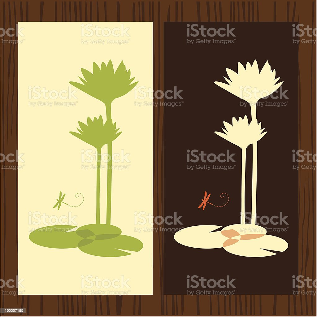lotus silhouette royalty-free stock vector art