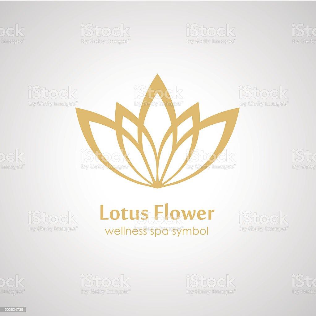 Lotus symbol icon vector art illustration