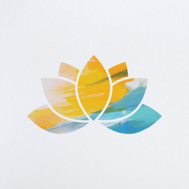 bildbanksillustrationer, clip art samt tecknat material och ikoner med lotus symbol - buddhism