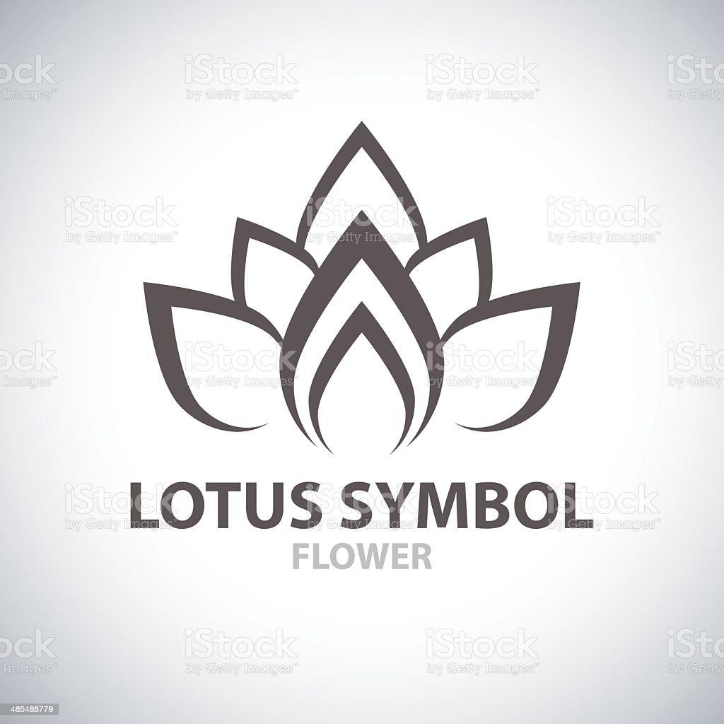 Lotus Symbol vector art illustration
