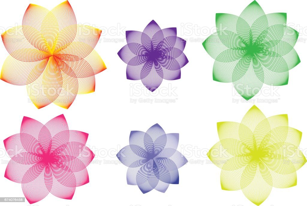 Lotus variations royalty-free lotus variations stock vector art & more images of backgrounds