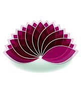 Lotus massage flower people figure icon vector image