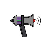 Loud, audio, megaphone icon. Element of color music studio equipment icon. Premium quality graphic design icon. Signs and symbols collection icon